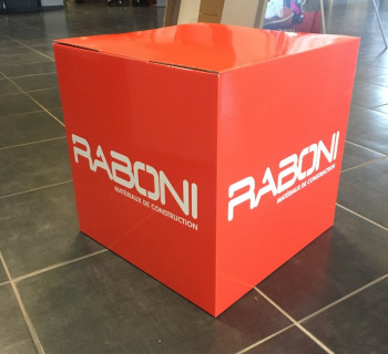 Fabrication PLV - Cubes RABONI
